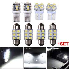 8PCS T10 & 30mm 31mm Festoon Lights White LED Bulb License Interior Package Kit
