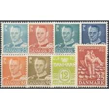 Dänemark 1952 postfrisch ** Nr. 330-338