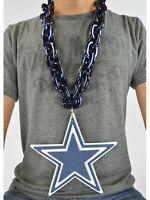 New NFL Dallas Cowboys Navy Blue Fan Chain Necklace Foam Magnet - 2 in 1