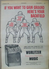 Wurlitzer Stereophonoic High Fidelity phonograph 1959 Ad- football backfield