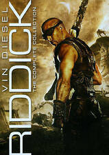 Riddick: The Complete Collection (DVD, 2014, 3-Disc Set) GREAT SHAPE, W/SLIPCOVE