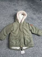 Boys Green Coat From George Age 12-18 Months