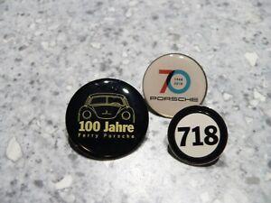 3 Porsche Pins / Buttons