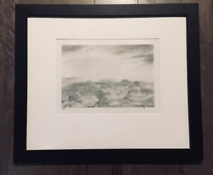 HUNTINGTON WITHERILL SIGNED 1983 Approaching Storm- Signed, Matted, Framed, #4