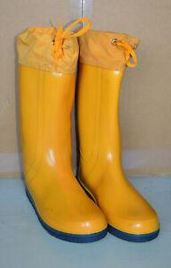 Gummistiefel Regenstiefel gelb wenig getragen Größe 43
