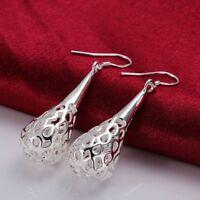 NEW Wholesale 925 Sterling Silver Filled Filigree Teardrop Drop Dangle Earrings
