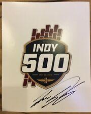 Takuma Sato signed 2019 Indy 500 Logo 8x10
