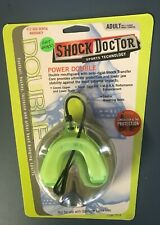 NEW Shock Doctor Power Double Mouth Guard, ADULT Size (11 and up), Neon Green