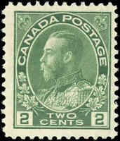 Mint H Canada F+ Scott #107 2c 1922 King George V Admiral Stamp