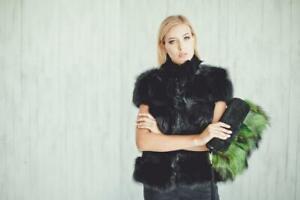 Real Fur Bag Clutch Handbag Gift Fur Tote Purse Bag Handbags Accessories Green