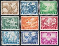 DR 1933, MiNr. 499-507 A, sauber ungebraucht,  Mi. 500,-