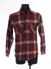 Woolrich Vintage Mens Red checked Casual Shirt, Wool Blend Size Small