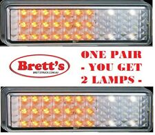1 PAIR 12V LED FRONT INDICATOR MARKER LAMP TRUCK BULLBAR 175AW CLEAR WHEN OFF A