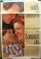 Nick Nolte  Susan Sarandon   LORENZOS OIL(1992) Original US movie poster