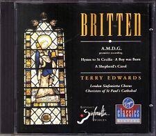 BRITTEN A Boy was Born A.M.D.G. Hymn St Cecilia Shepherd Carol TERRY EDWARDS CD