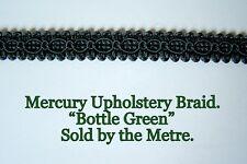 "Dark Green Upholstery Braid ""Mercury Bottle Green"" 15mm wide (sold by the Metre)"