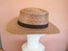 Gambler's Style Panama Straw hat Brown with brown band  One size  S to L