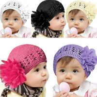 Kids Toddler Baby Girl Flower Hair Band Headband Headwear Photo Prop Beanie Hat
