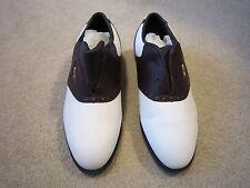 NIB Reebook Golf Shoes Men's Size 9 - White Burgundy Leather Distance