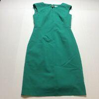 Calvin Klein Womens Size 2 Green Sleeveless Dress Career Style A544