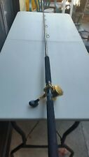 Seeker 8' conventional fishing rod with avet reel model SX 5.3:1 made in USA.
