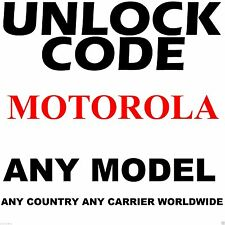 Motorola Unlock Code Service Bell Mobility Rogers Videotron Fido Telus Canada