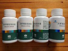 4 Bottles TIENS Spirulina Capsules Natural Pollution Free 250mg*100capsules
