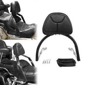 Black Sissy Bar Backrest Set Fit for Honda Gold Wing GL1800 GL 1800 01-16 15 12