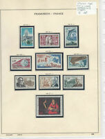 France 1966 MM+Used Stamps On 2 Pages Ref: R6803