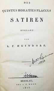 ALTPHILOLOGIE ANTIKE - HORAZ - Horatius Flaccus, Satiren - 1815