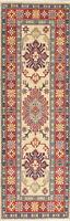 New IVORY 6 ft Narrow Runner Kazak Pakistan Geometric Oriental Wool Rug 2' x 6'