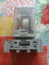 Dayton 5Z454 Relay 120Vac 50/60Hz 12Amp 8Pin with extra base
