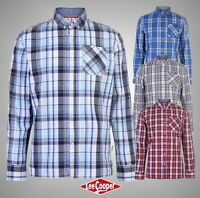 Mens Lee Cooper Long Sleeve Check Shirt Top Sizes S M L XL XXL