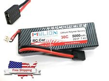 1pc 5000mAh 7.4V 30C Li-Polymer Lipo Battery TRX Plug Connector MY001-5000-30
