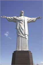 RIO DE JANEIRO christ the redeemer statue poster FAMOUS LANDMARK 24X36 new
