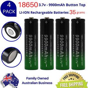 PREMIUM GTF 18650  9900mAh 3.7v BUTTON TOP Lithium Li-Ion
