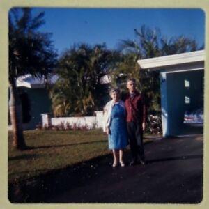 Vintage Ektachrome 35mm Color Slide Mid Century Modern House Car 1960s Image