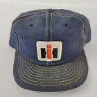 IH International Harvester Denim Snapback Trucker Hat Vintage Louisville Patch