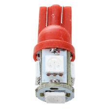 2 x T10 W5W 5 SMD 5050 LED parcheggio rosso leggero Luci L8R1