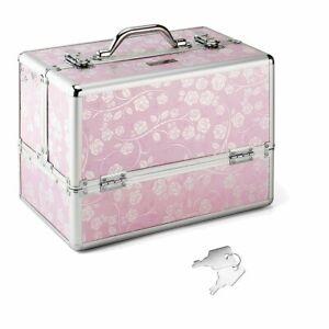 Kosmetikkoffer Schminkkoffer Friseurkoffer Beautycase Nageldesignkoffer XXL Rosa