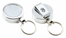 Heavy Duty Retractable Belt Key Reel For Keys / Security / SIA Equipment