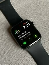 Apple Watch Series 4 44mm Black Stainless Steel with Sport Band Cellular - MINT