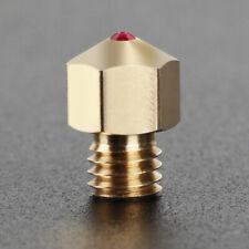 3D Printer Nozzle 0.4mm Extruder Print Head for MK8 3D Printers Ruby Nozzle
