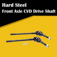 2x Hard Steel Front Axle CVD AR44 Drive Shaft For  SCX10 II 1/10 RC Crawler Car