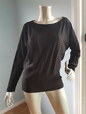 Country Road black long sleeves top size S NWOT