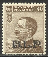 ITALY #B13a SCARCE Mint NH w/Cert - 1922 40c Brown w/Black BLP Ovpt
