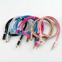 3.5mm Male to Female Stereo Audio Headphone Aux Extension Cord Cable 1m