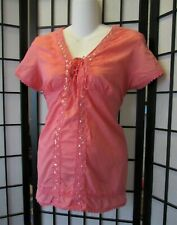 ANNOUNEMENTS - Coral Cap Sleeved Maternity Top - Size 8/10 >