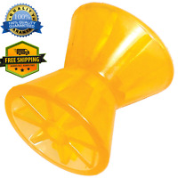 """Tie down Boat Trailer Poly Bow Roller 4"""" Amber/Yellow Weather Resistant Tiedowns"""