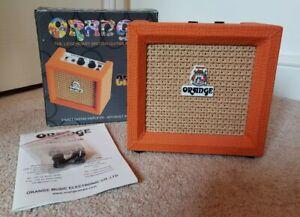 Orange Micro Crush CR3 Battery Powered Mini Practice 3W Combo Amp Boxed
